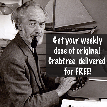 Get your weekly dose of original Crabtree